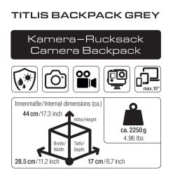 BRAUN Titlis Backpack grey