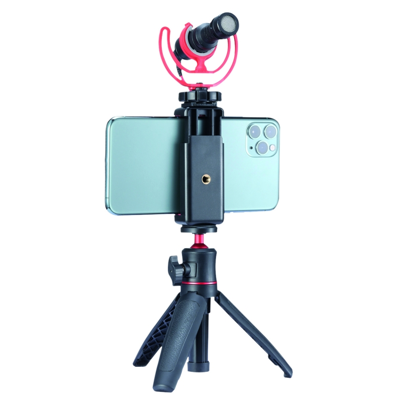 BRAUN table tripod MT-27 VLOG with smartphone-holder incl. cold shoe