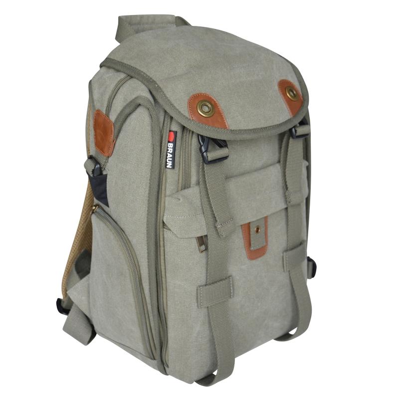 BRAUN Canvas Backpack